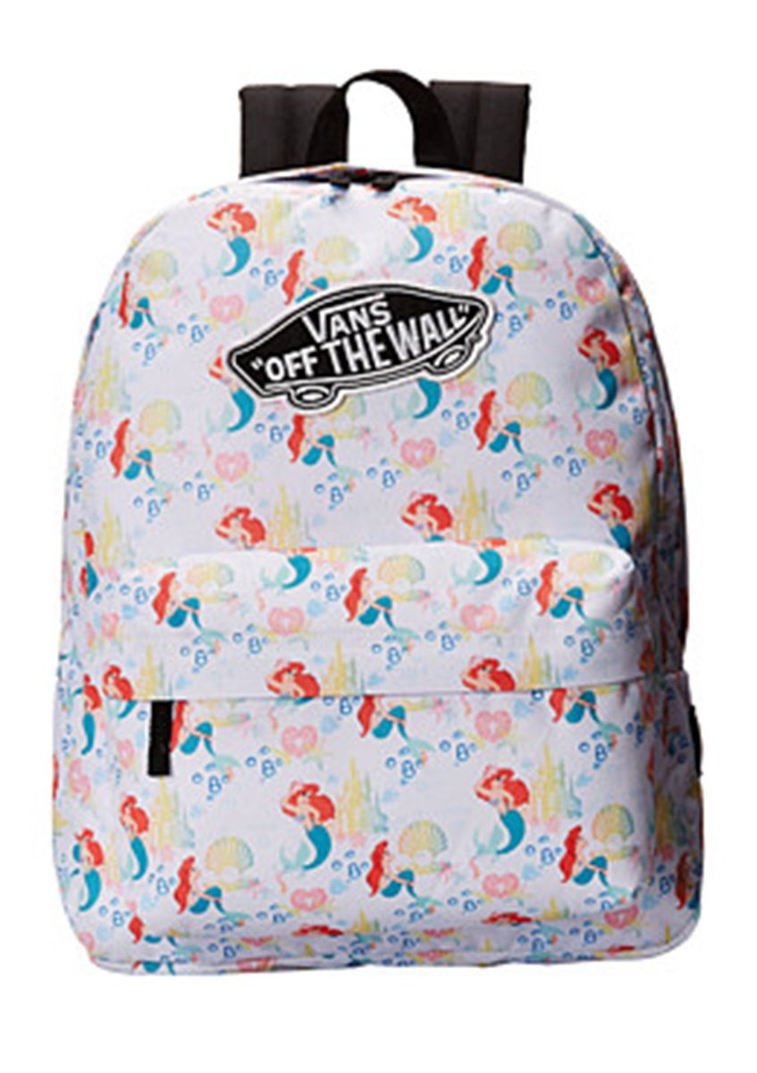 dadc5495ede Bring your her stories to life with the magical style of the Vans Disney  Little Mermaid backpack!