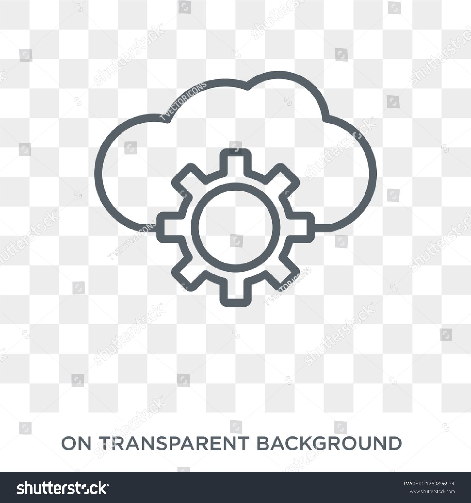 Cloud Service Icon Trendy Flat Vector Cloud Service Icon On Transparent Background From General Collection High Home Icon Trendy Home Transparent Background
