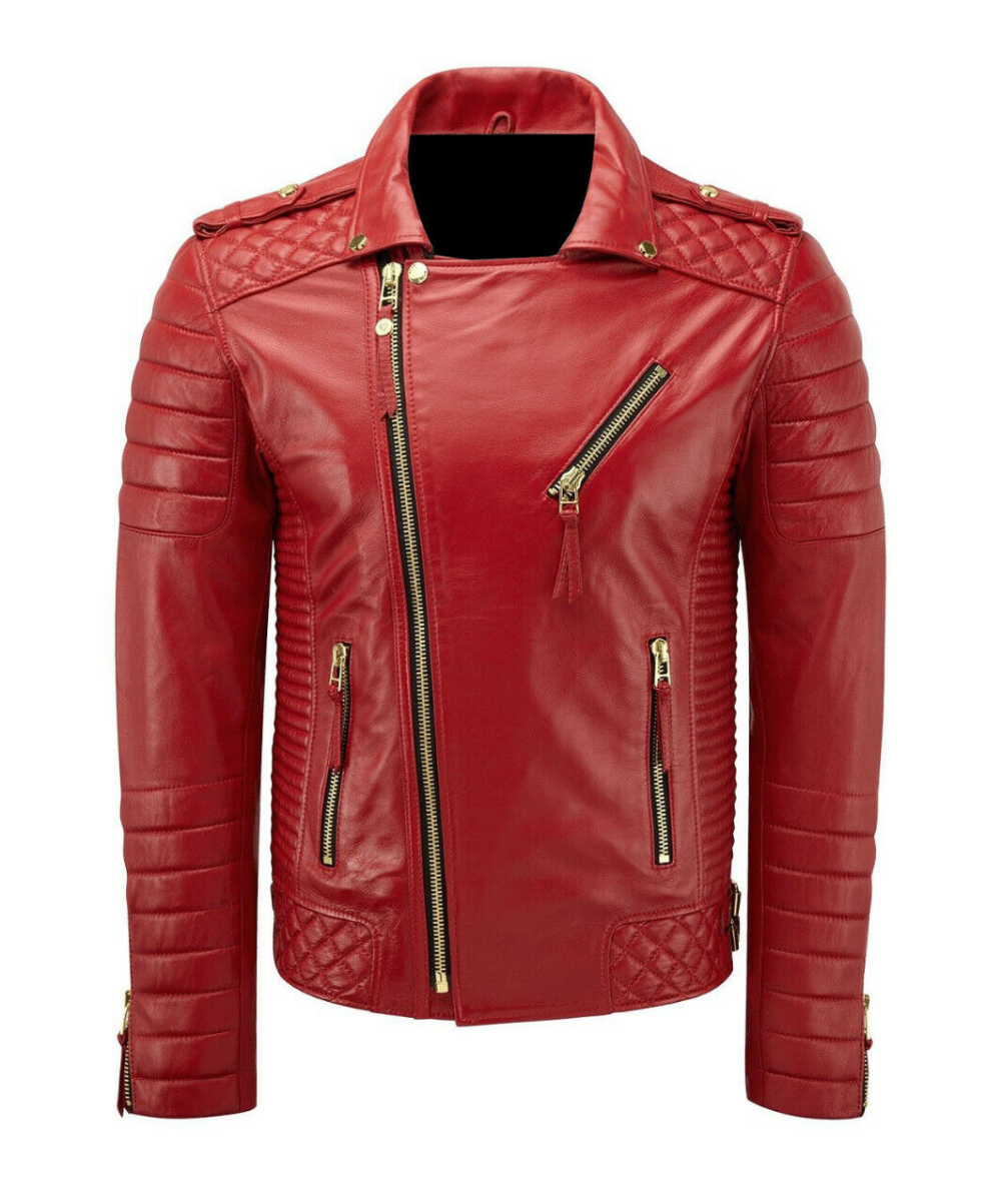 Womens Ladies Cafe Racer Motorcycle Real Leather/Faux