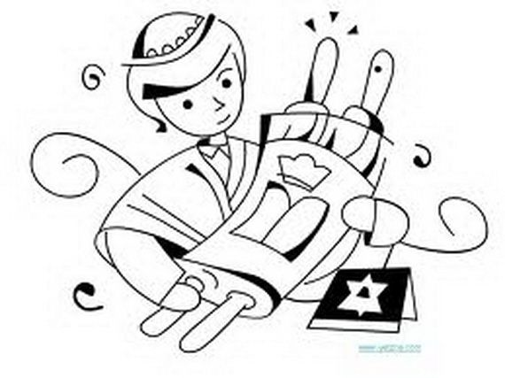 Jewish Coloring Pages for Kids Simchat Torah coloring