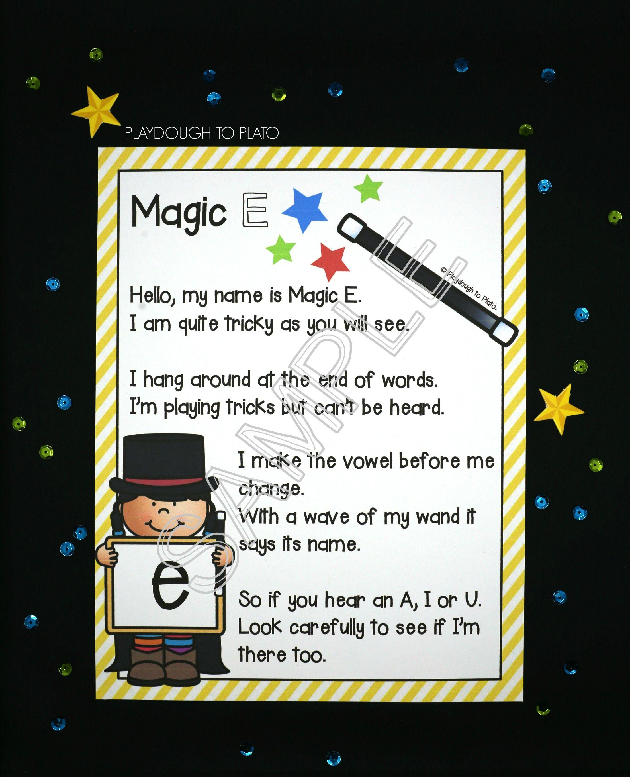 Motivating Magic E Activities