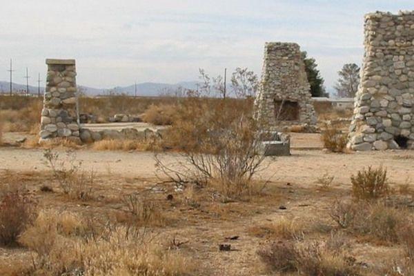 ruins of a failed socialist commune  near lancaster