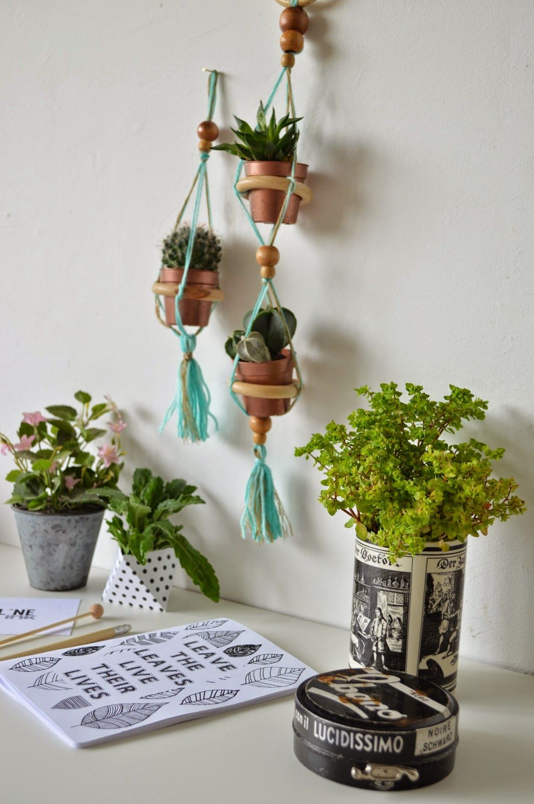 The SaturDIY - Hanging Planters Pot for UJB   Blog a Cavolo
