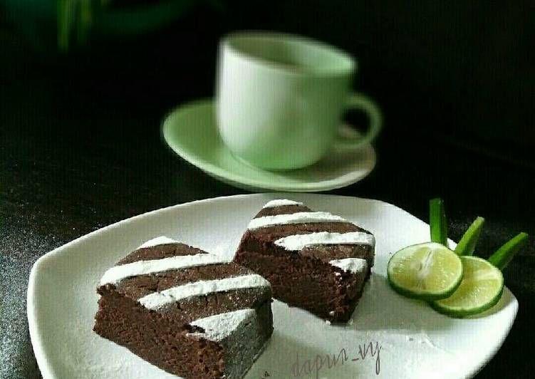 Resep Eggless Chocolate Cake No Mixer Moist Oleh Dapurvy Resep Kue Cokelat Kue Cokelat