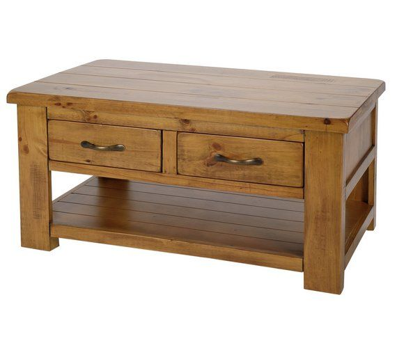Collection Arizona 2 Drawer 1 Shelf Solid Pine Coffee Table At Argos Co Uk Visit To Online For Tables Side And Nest Of