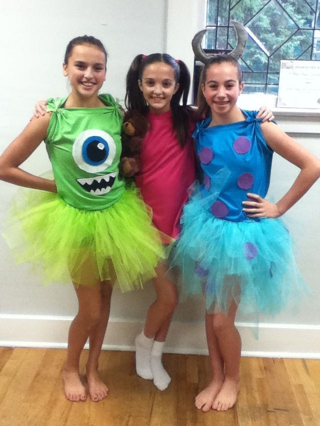 Homemade Monsters Inc Trio Costumes Trio Halloween Costumes Halloween Costumes Friends Cute Halloween Costumes