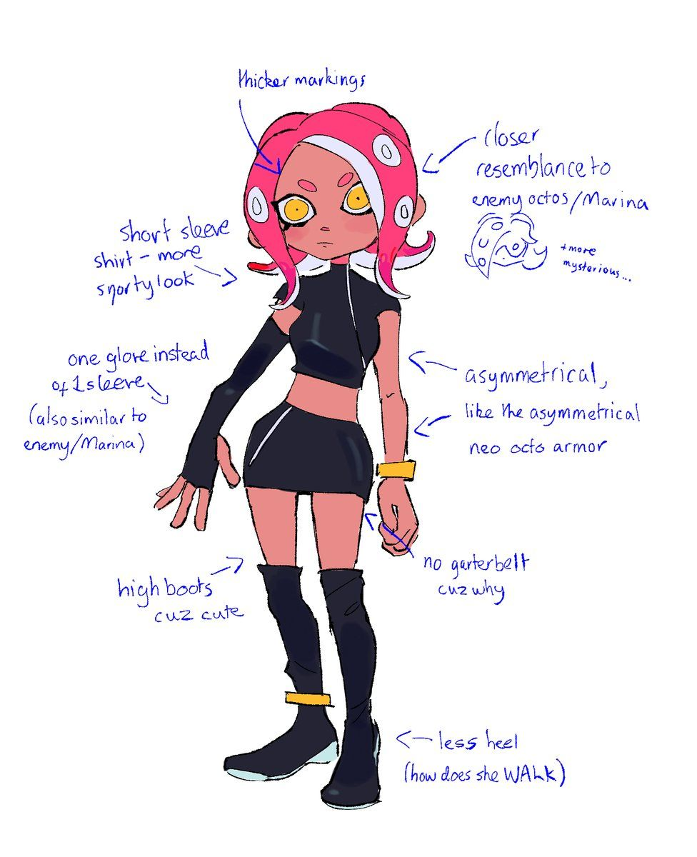 Agent 8 Redesign By With Images Splatoon
