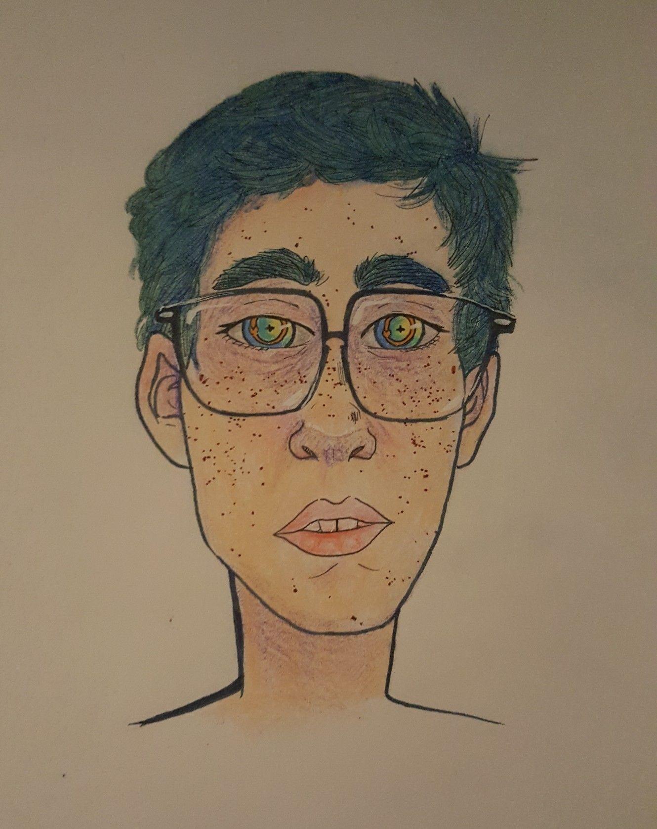 WIP self portrait by mintyking07 on Instagram   My Drawsss