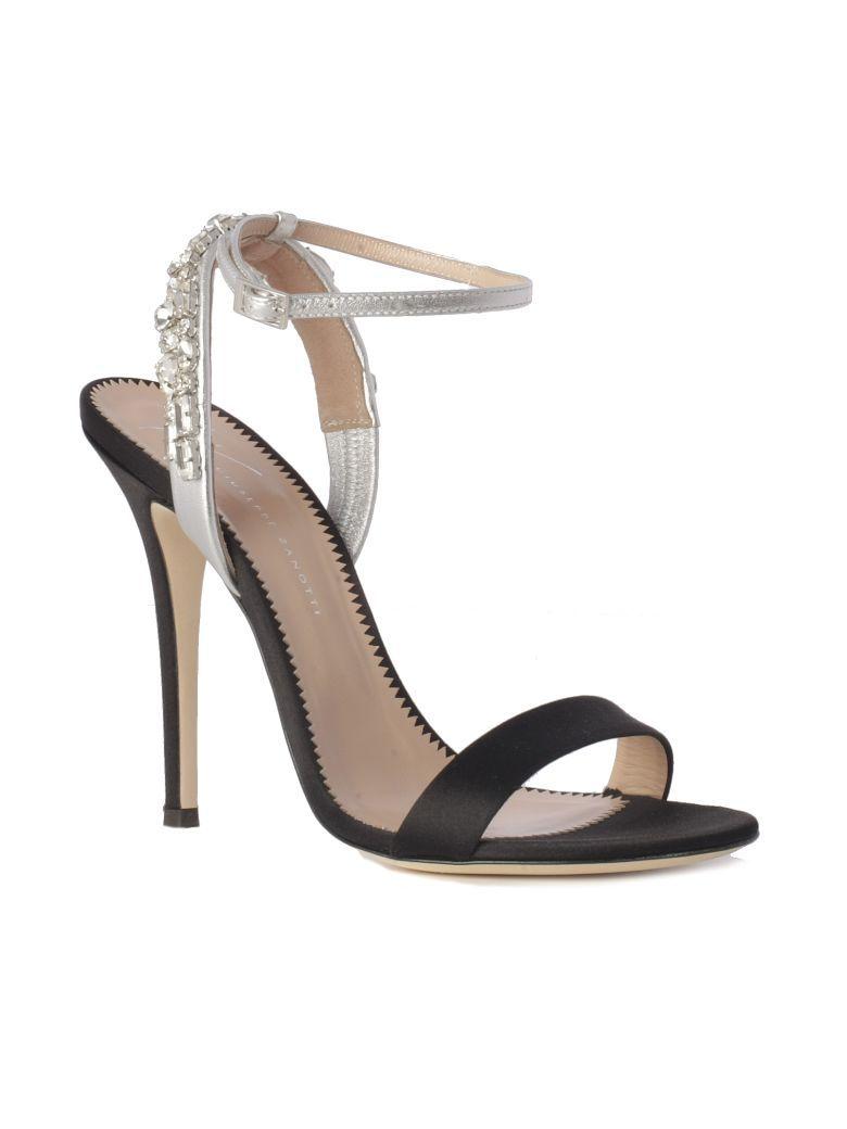 88e3af674439 Giuseppe Zanotti Sandals Jewels Bracialet Heel 11.5 Cm Satin - Black