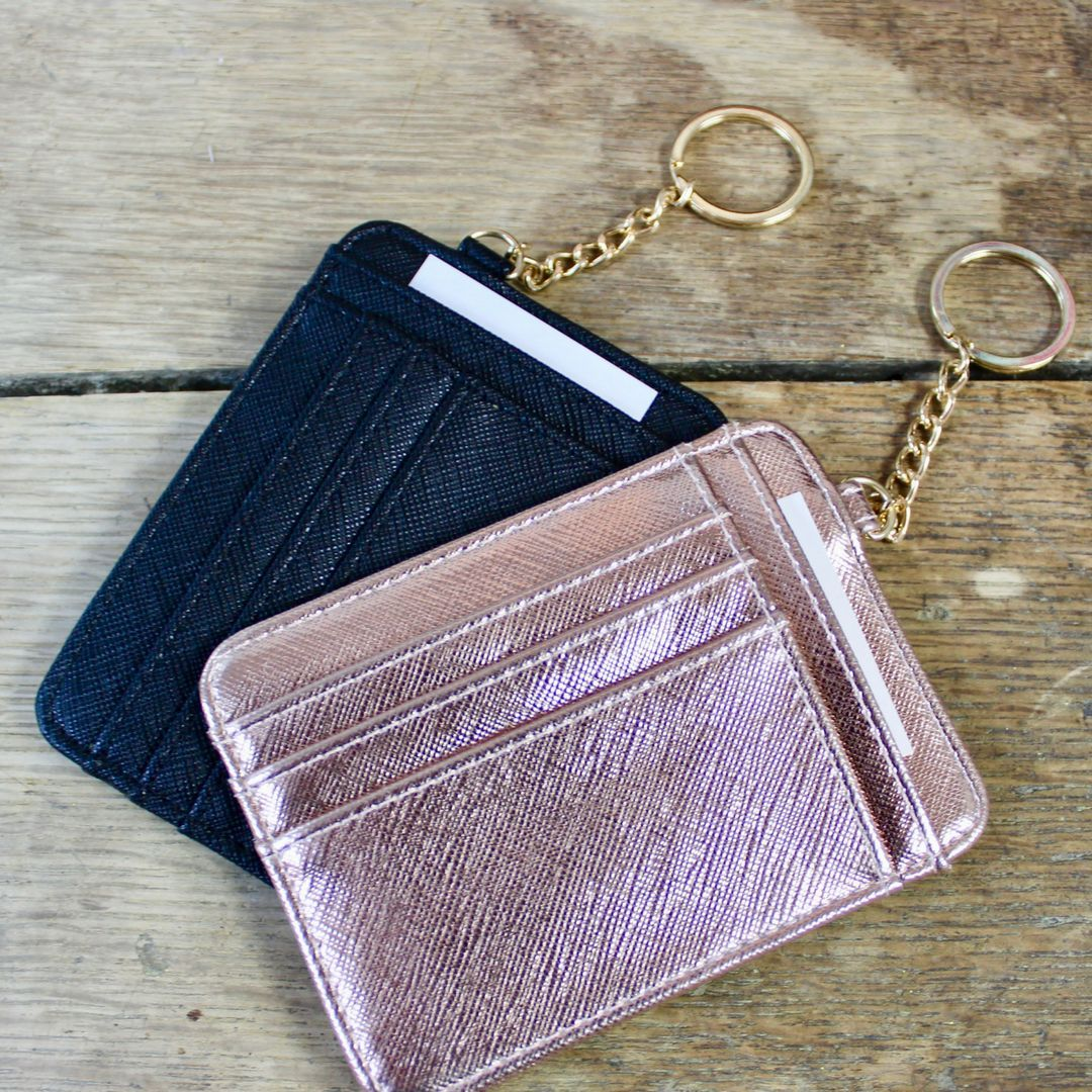 Card holder keychain keychain wallet small wallets