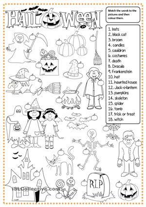 Halloween - matching | daycare work | Pinterest | Englisch