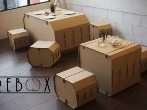 REBOX:Recyclable Eco Furniture, DIY By Three Pu0027s Entertainment   YouTube. Öko  MöbelKreative MarkenBoxenSkulpturSelber MachenEinfachProjekteSpendenaktion