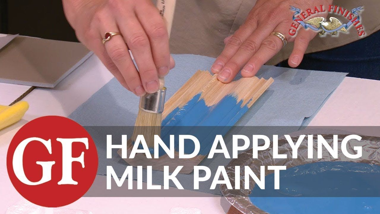 How to apply milk paint brush application youtube
