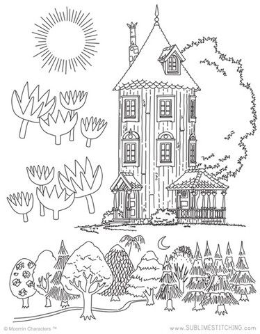 Small Pack Embroidery Patterns Moomin Home Mumins Bilder Und