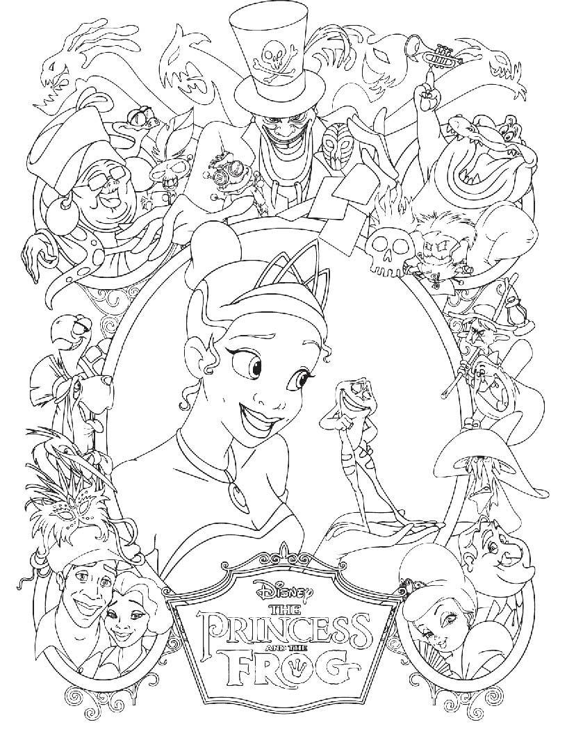 Princess Tiana Was Thrilled Always With Prince Frog Coloring Pages Disney Kleurplaten Kleurplaten Kleurplaten Voor Kinderen