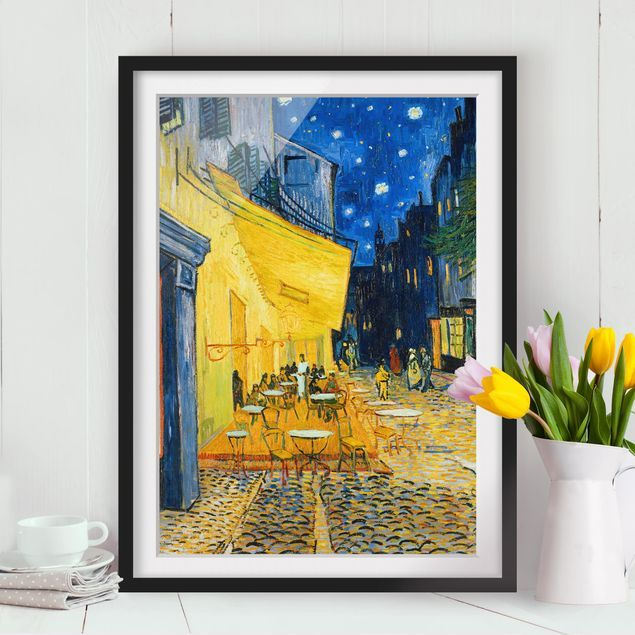 Poster con cornice Vincent Van Gogh Café Terrace At
