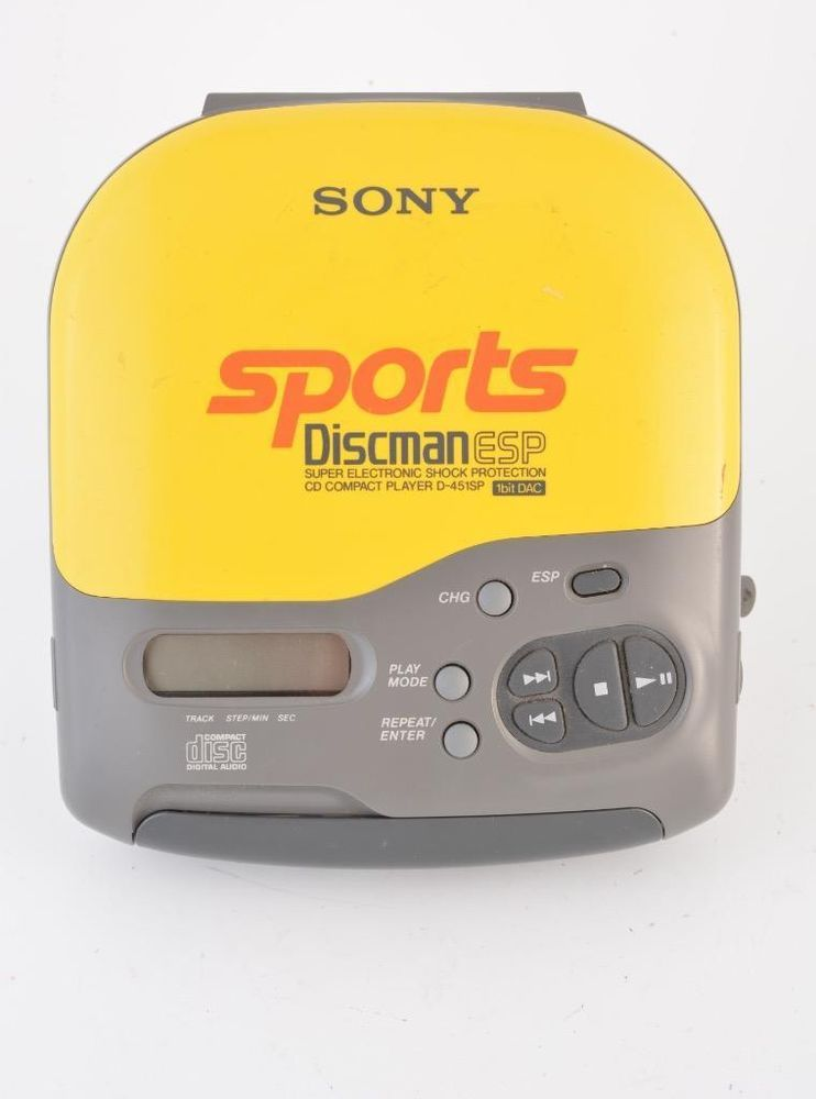 Details about Sony Sports Yellow Discman ESP D-451SP Compact