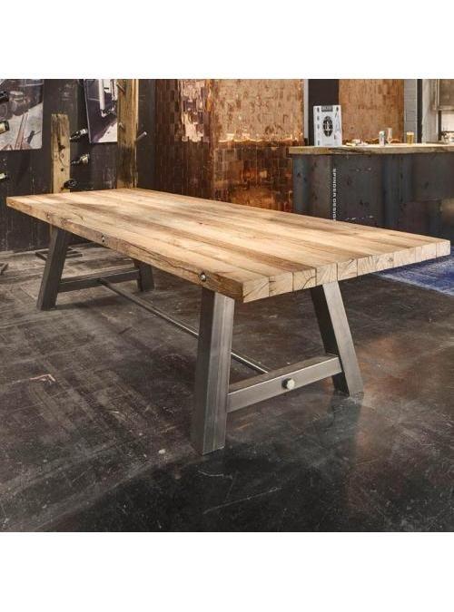 Tavolo Legno Grezzo Gambe Ferro.Acquista Ora Il Tavolo Di Design Leonardo Scontato 15 Tavoli