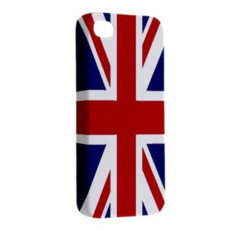 New UNION JACK United Kingdom Flag British Flag iPhone 4 Case iPhone 4s Case Hardshell Case Cover