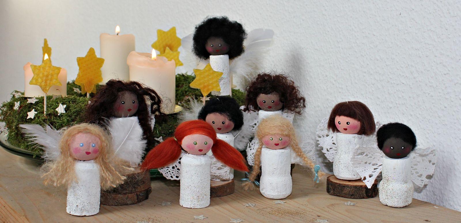 Engel Basteln Kathi Pirati Anleitung Engelchen Aus Korken
