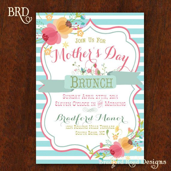 mother s day brunch mothers day invitation luncheon birthday party