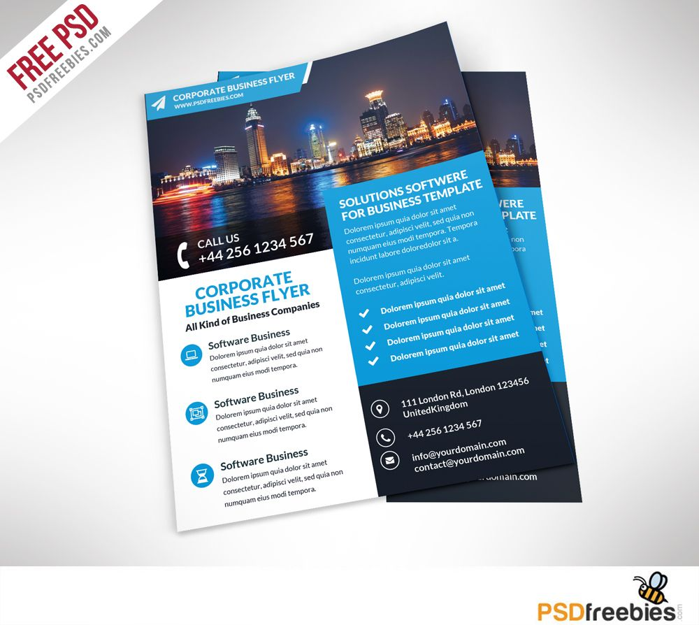 Corporate business flyer free psd template business flyers corporate business flyer free psd template cheaphphosting Gallery