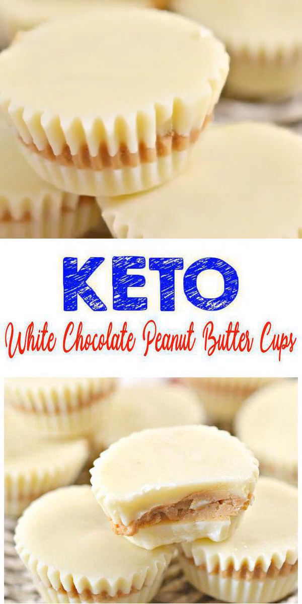 Keto White Chocolate Fat Bombs – BEST White Chocolate Peanut Butter Cups Candy Fat Bombs – Easy NO Sugar Low Carb Recipe