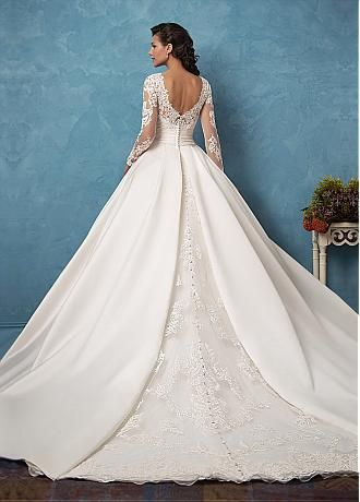Marvelous Tulle & Satin Bateau Neckline A-Line Wedding Dresses With ...