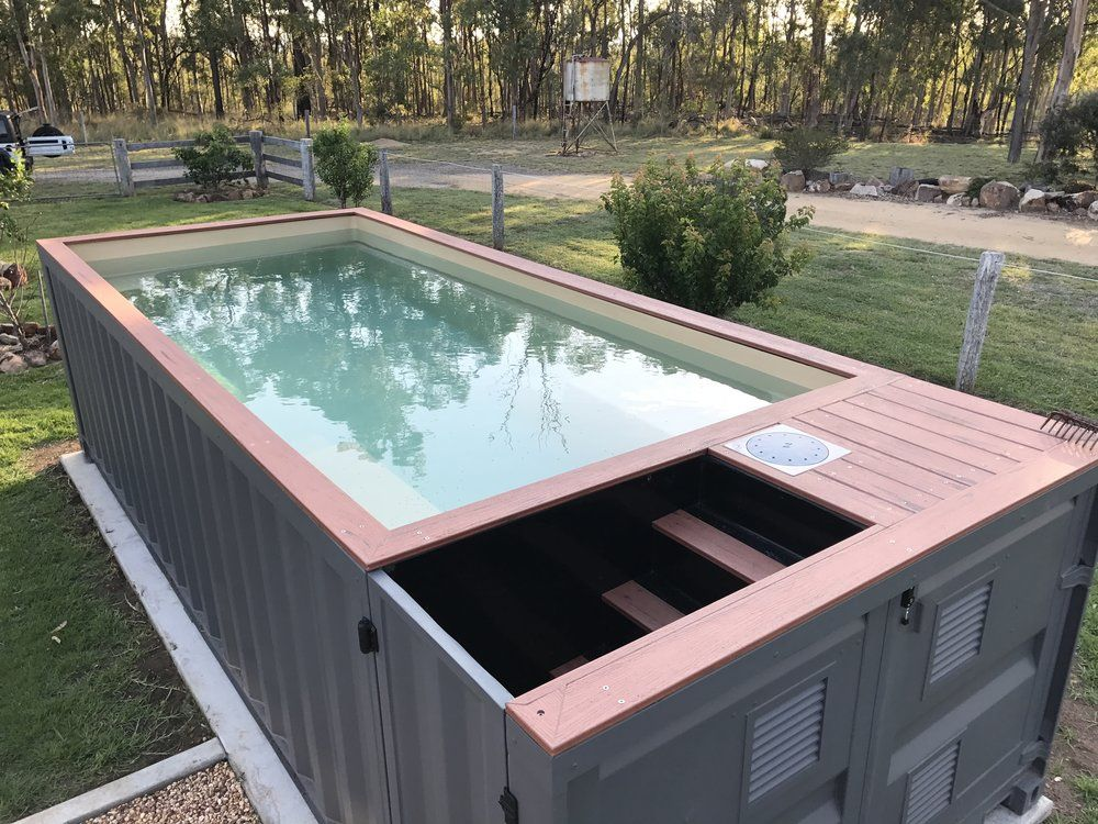 Image Result For Storage Container Swimming Pool