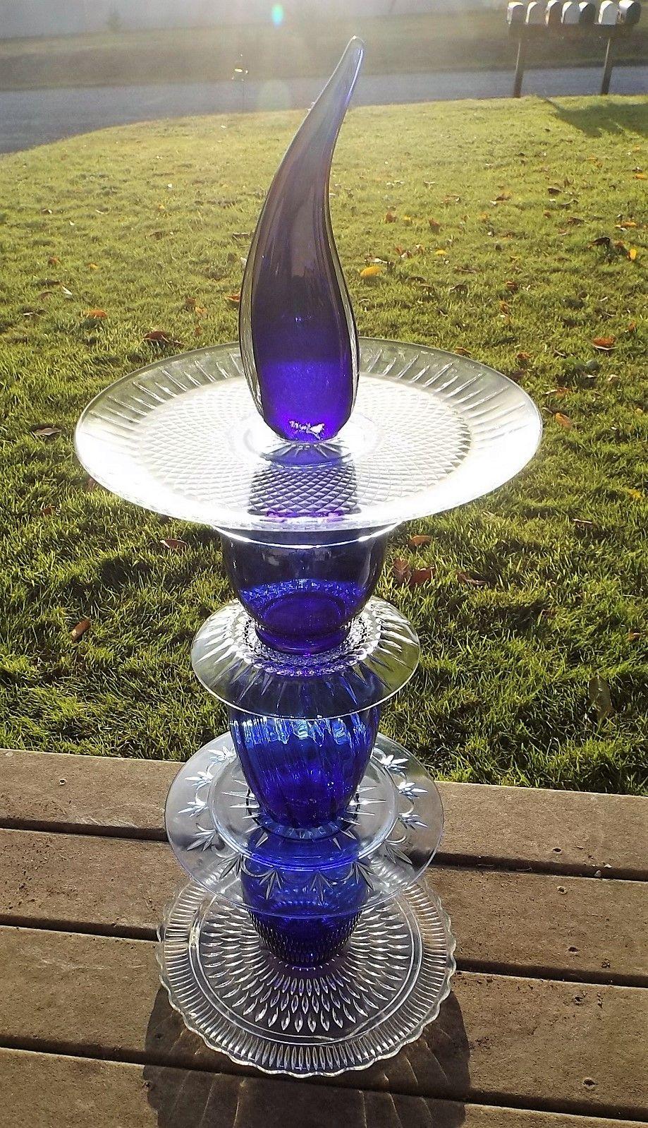 Blue Glass Totem I Made It Is 34 Tall 400 x 300