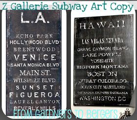 from Gardners 2 Bergers: ✥ Z Gallerie Subway Art Knock Off ✥