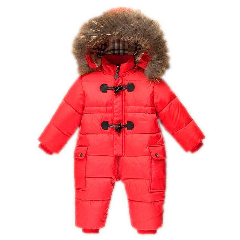 Goodkids Newborn Winter Thick Padded Jumpsuits Outwear Outfits Rompers Puffer Coat Baby Boys Girls