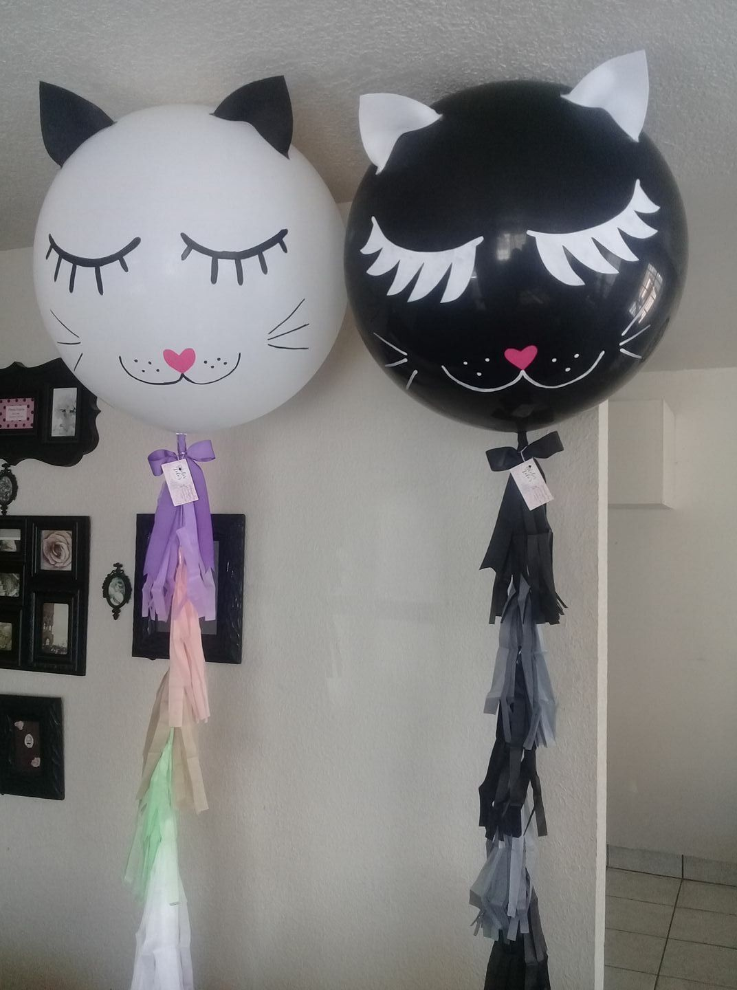 Pin By Nohuriber Riera On How To On Balloons In 2020 Kitten Birthday Party Cat Birthday Party Cat Themed Birthday Party