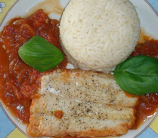 Rezept für Ofenfisch mit Tomatensauce