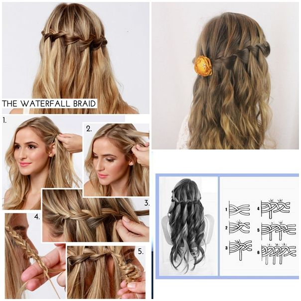 Wonderful diy waterfall braid hairstyle diy waterfall braid waterfall braid hairstyles f ccuart Images