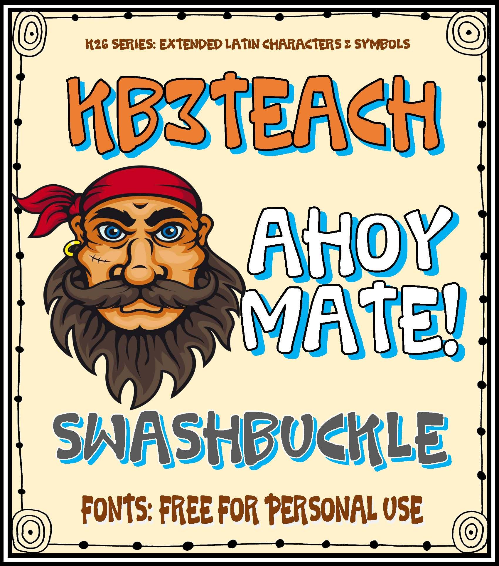 Free Fonts Kb3 Swashbuckle Personal Use K26 Series