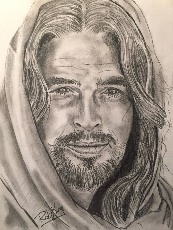 By Rob King Drawing All Drawing Love Faith Jesus Christ Son Of God In 2020 Jesus Drawings