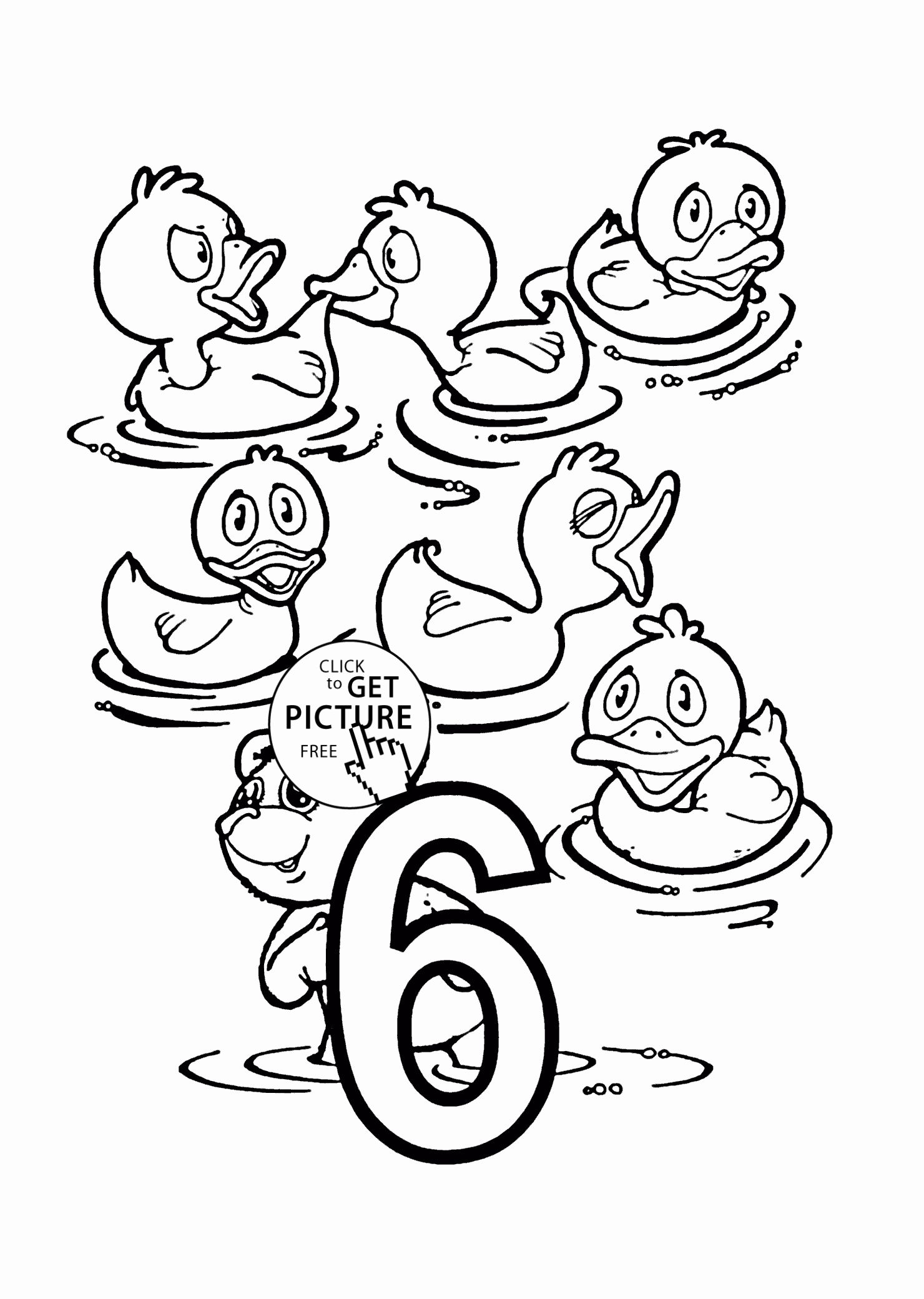 Number Coloring Pages for Kindergarten in 2020 | Coloring ...