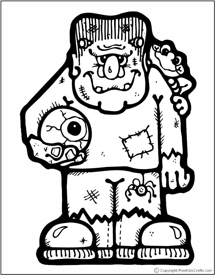 HalloweenColoringPages Free Kids Crafts Halloween Coloring