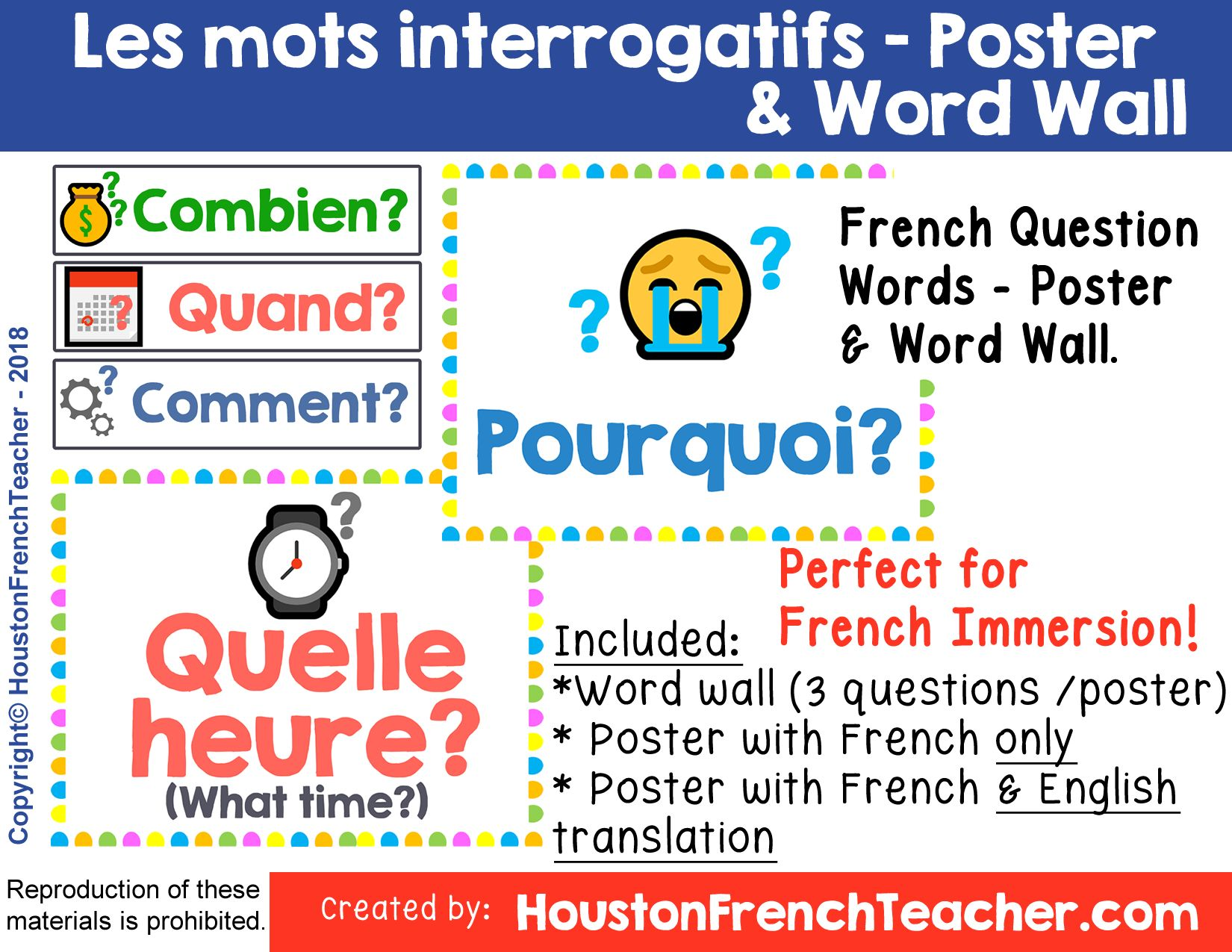 French Question Word