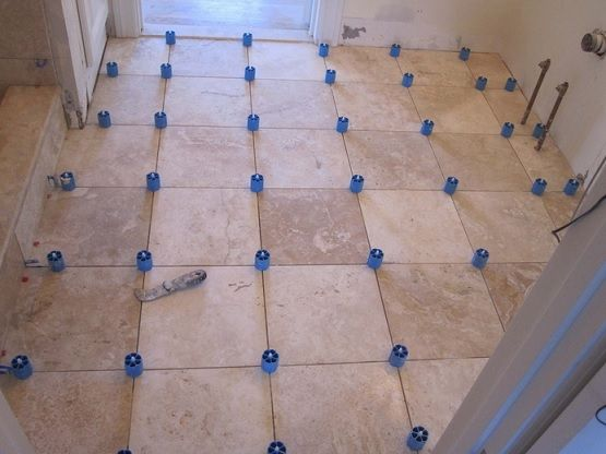 Awesome Retile Bathroom Floor With Traventine Tile