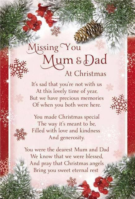 Wonderful Missing Mom And Dad At Christmas