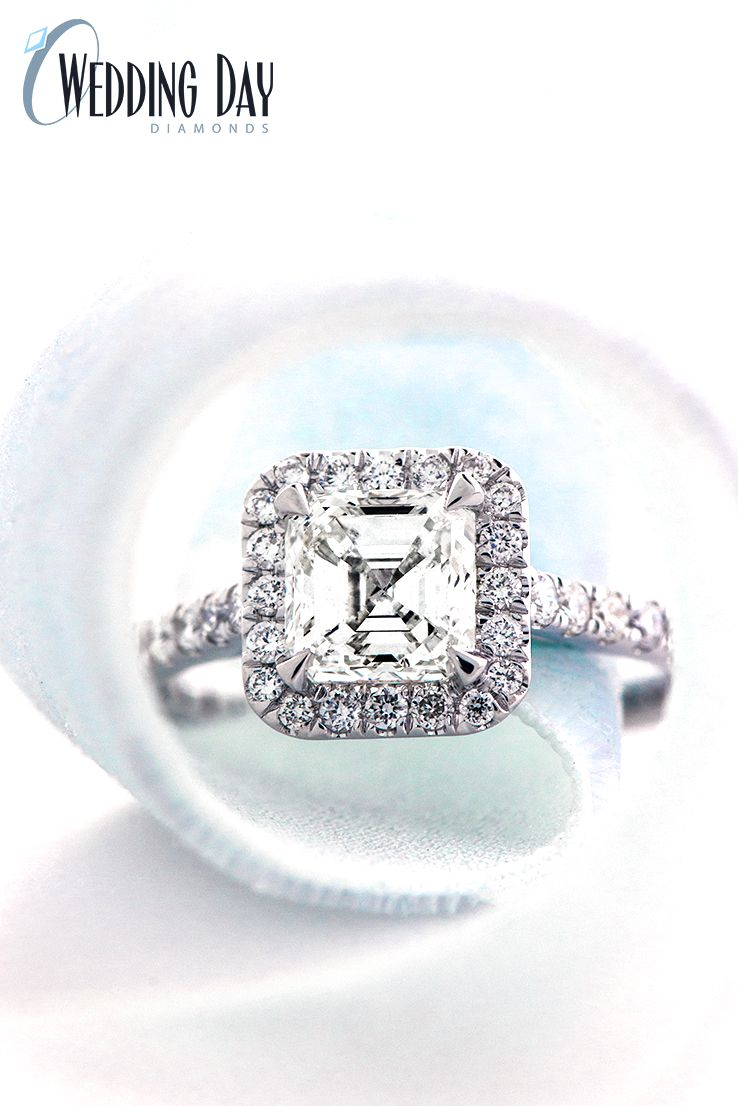 Halo Engagement Ring From The One Collection By Wedding Day Diamonds Wedding Day Diamonds Engagement Rings Engagement