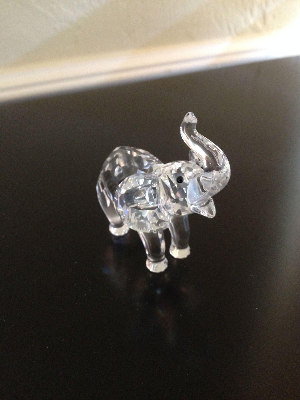 Swarovski Crystal Baby Elephant Animal Figurine Retired 191371 Mint