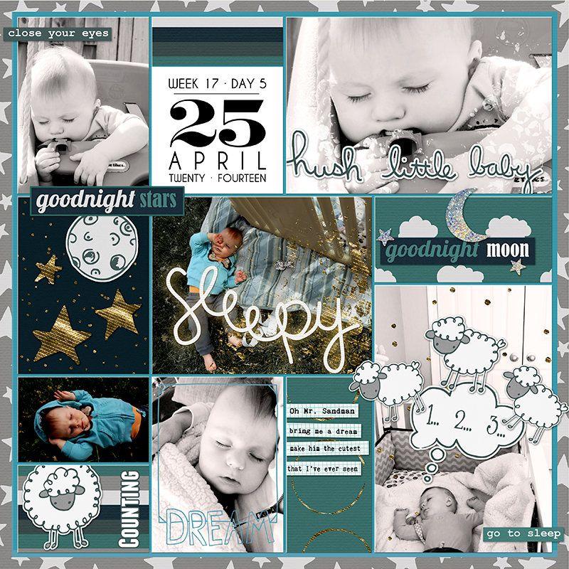 Project Life 2014 (Week 17, Day 5): Sleepy Boy - Scrapbook.com ...