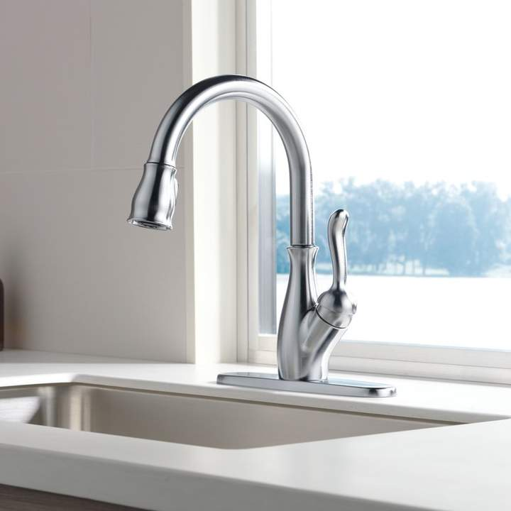 Leland Pull Down Single Handle Kitchen Faucet With Magnatite Docking And Diamond Seal Technology Kitchen Handles Faucet Kitchen