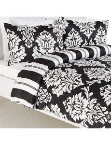 Black Damask Bedding And White Like