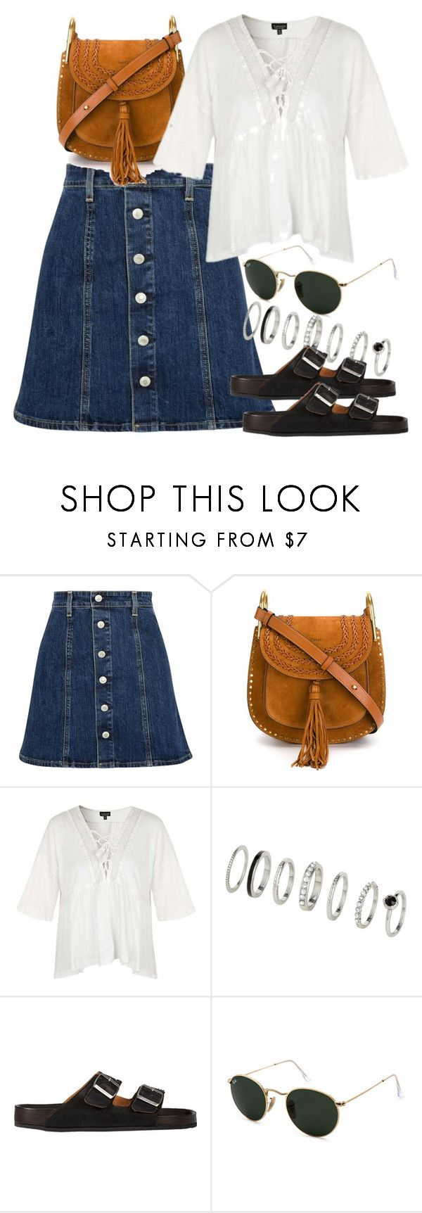 """""""Untitled #5740"""" by rachellouisewilliamson ❤ liked on Polyvore featuring Chloé, Topshop, Étoile Isabel Marant and Ray-Ban"""