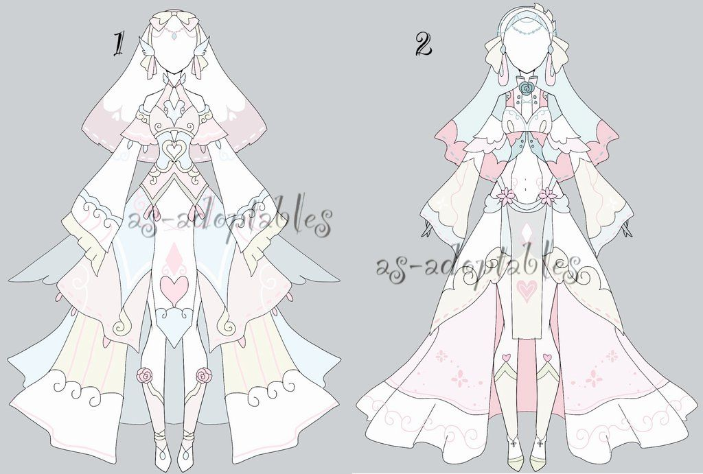 princess angel outfit adoptable batch CLOSED by AS-Adoptables