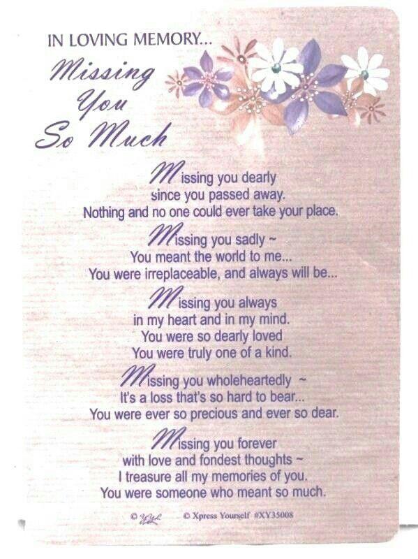 Miss u Sayings Pinterest Grief Poem and Verses